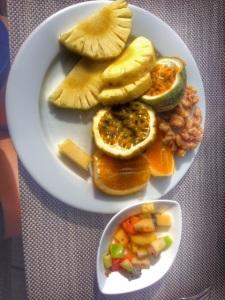 Meitsin normi aamiainen 5 tähden hotellissa Malediiveilla. :P